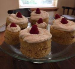 Victoria sponge with raspberry jam!