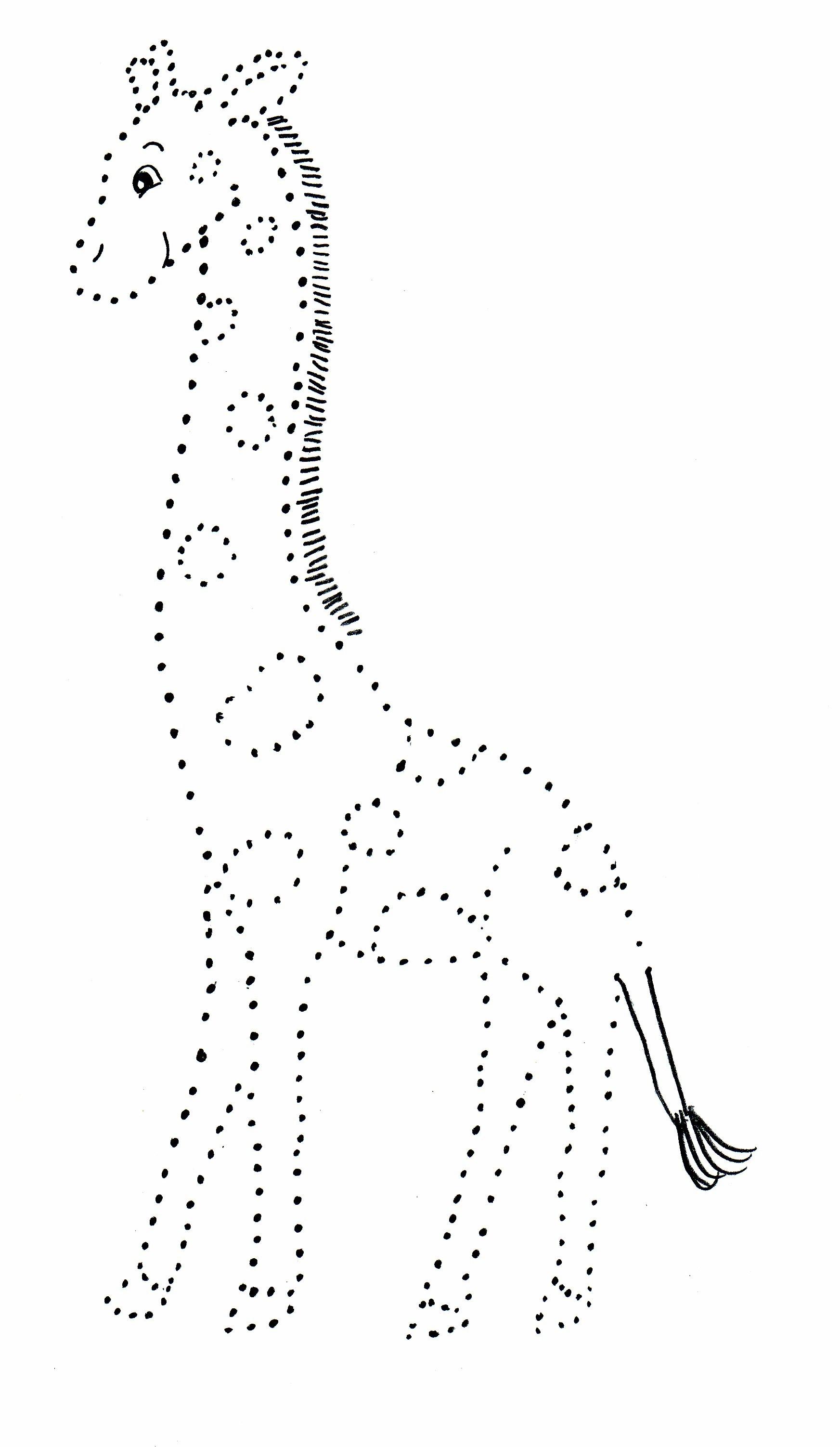 Giraffe Dot Drawing