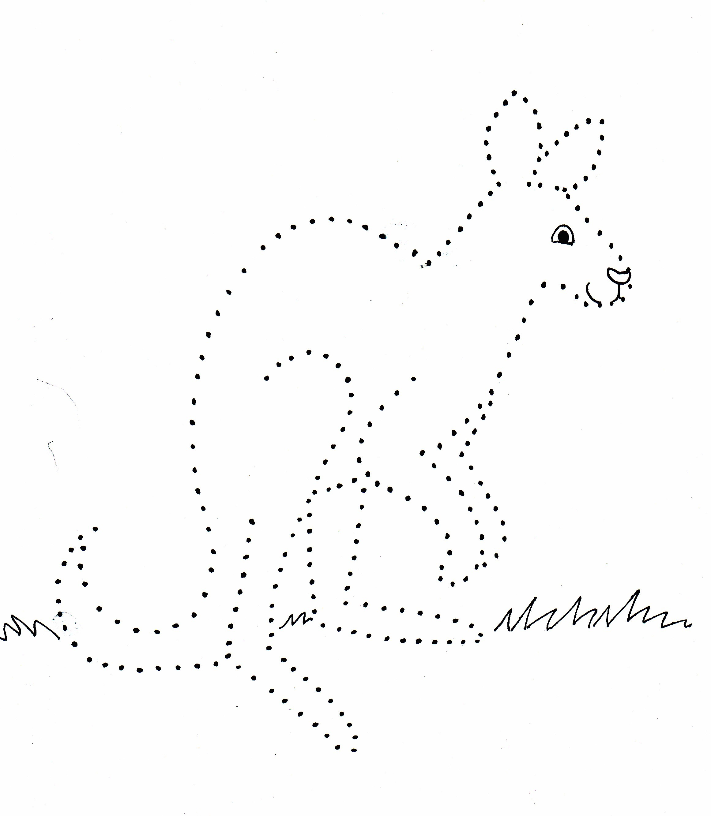 Kangaroo Dot Drawing