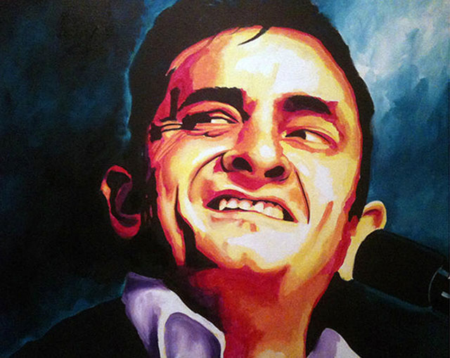 "SOLD: Johnny Cash 30""x40"""