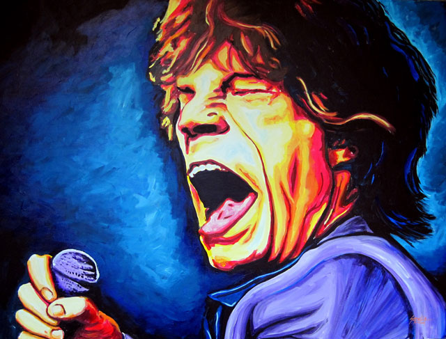 "SOLD: Mick Jagger 30""x40"""