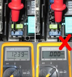 how to find a blown fuse in a car with a multimeter if there is 12 volt  [ 900 x 967 Pixel ]