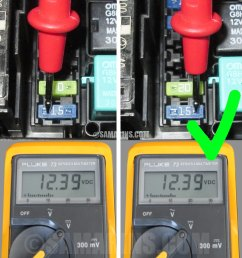 how to check a fuse in a car how to test car fuse box with multimeter [ 900 x 967 Pixel ]