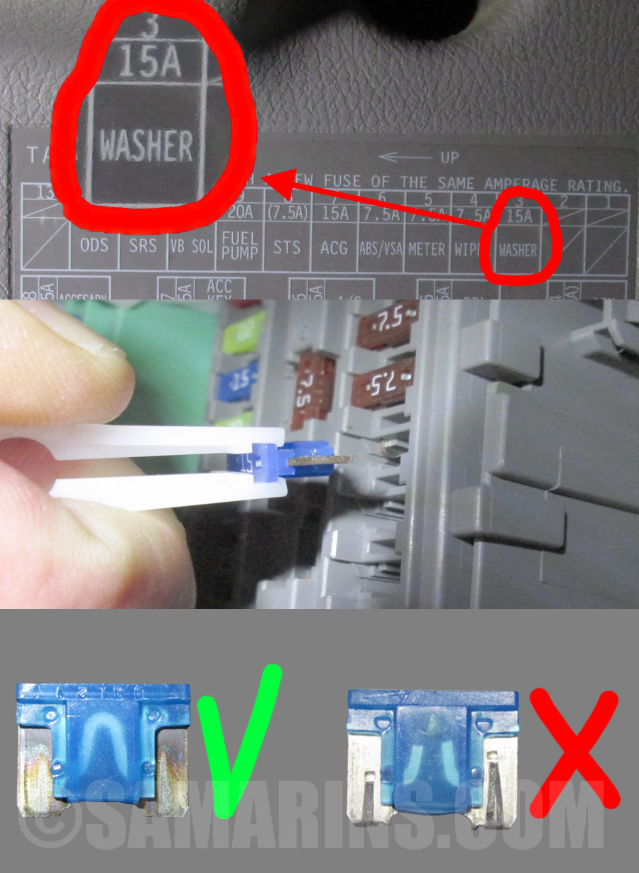 hight resolution of blown vs good fuse