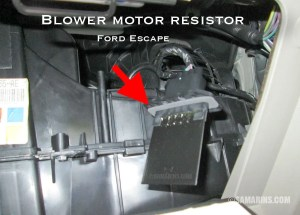 Blower motor, resistor: how it works, symptoms, problems