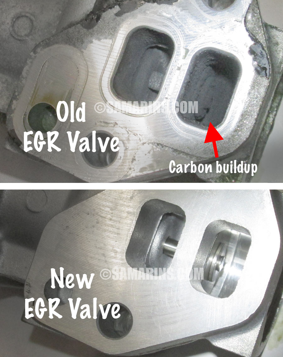 hight resolution of old vs new egr valve