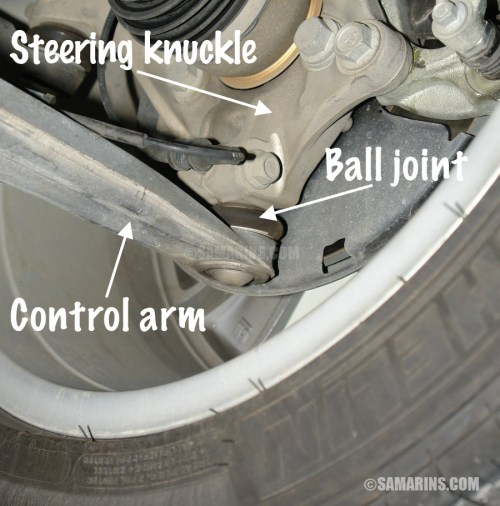 small resolution of if a control arm is excessively worn damaged or bent the vehicle is not safe to drive