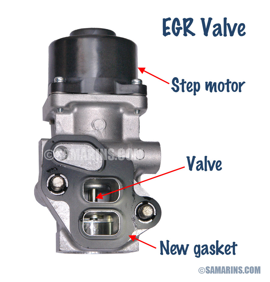 medium resolution of new egr valve with the gasket