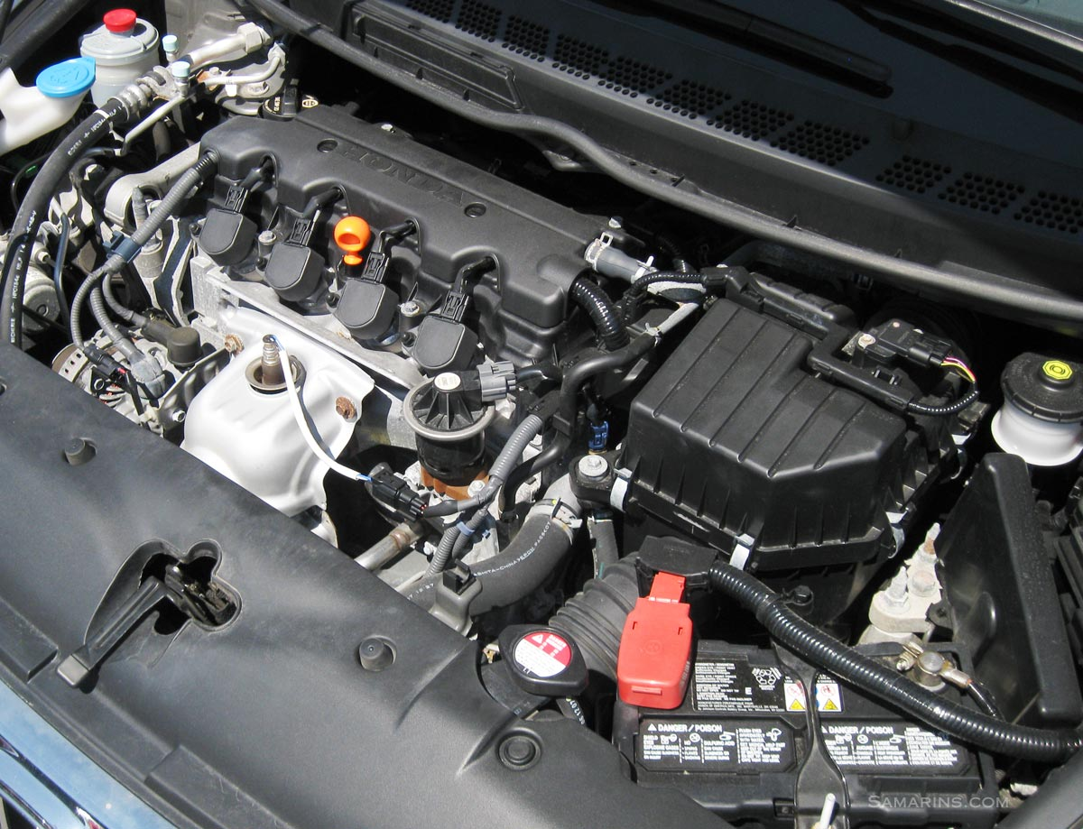 hight resolution of honda civic engine