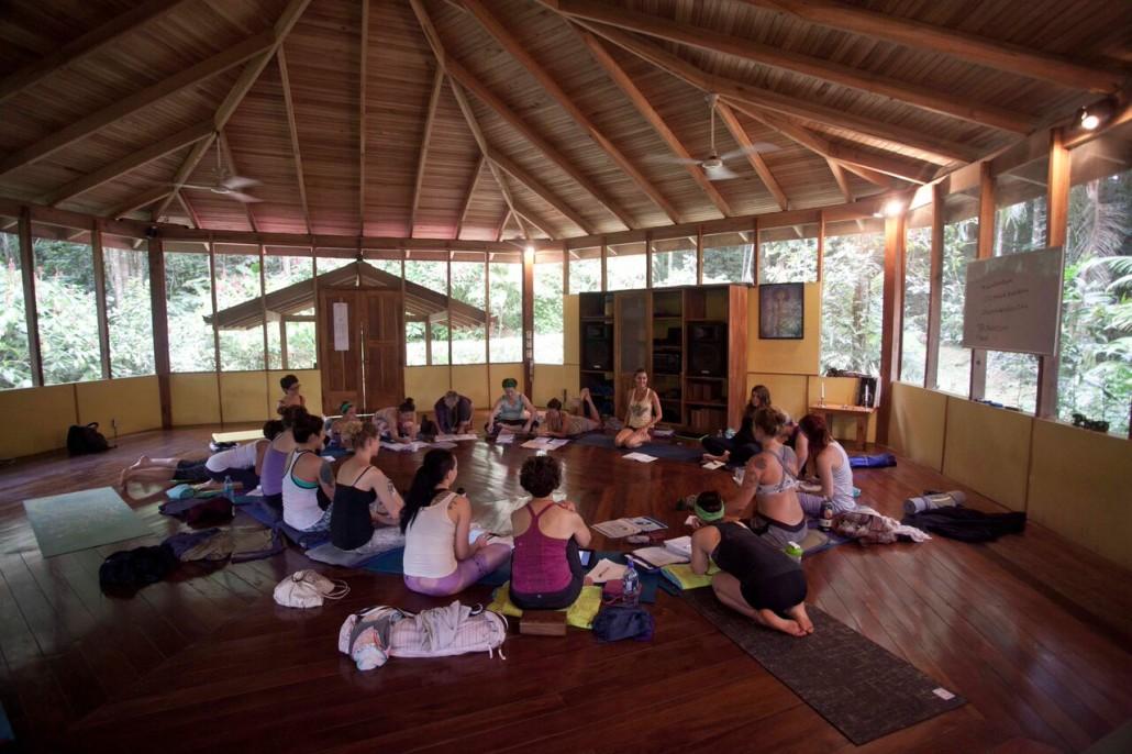 Yoga class at Samasati Retreat & Rainforest Sanctuary