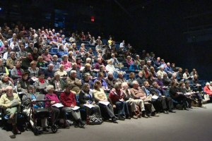 Public Meeting on changes to King's Wharf project filled Alderney Theatre