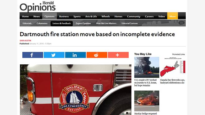Sam Austin on Fire Station Reorganization
