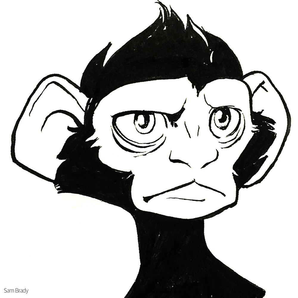 Inktober - Monkey