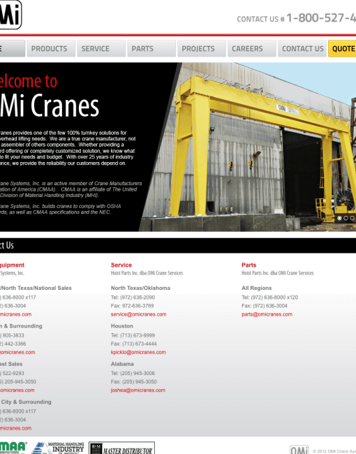 Website Development & Design > Construction & Crane Manufacturing