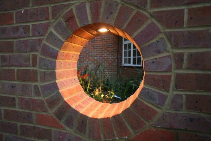 Garden wall lighting by Sam Coles Lighting