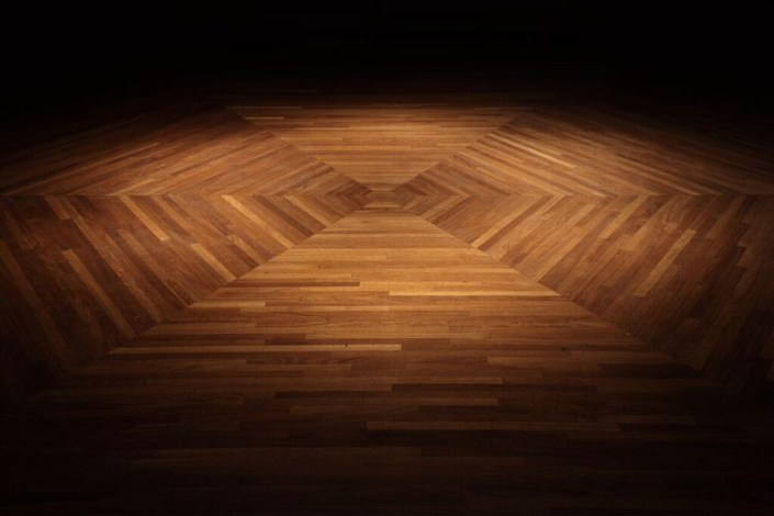 Wooden floor lighting by Sam Coles Lighting 01