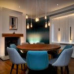 Pendant lights over Dining Room table