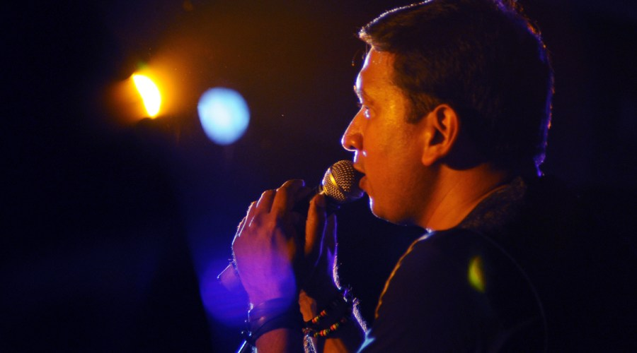 Singing at the Jazz Concert held at the Russian Cultural Centre, Chennai