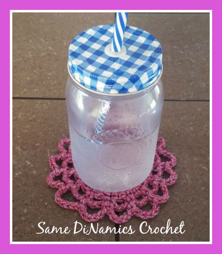 Free Raspberry Burst Coaster Crochet Pattern