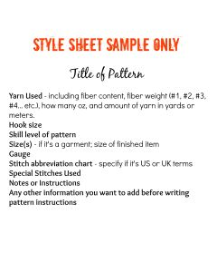 Style Sheet Info Page