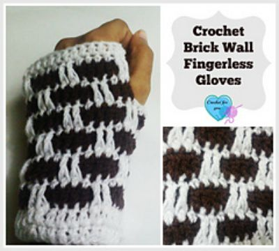 Brick Wall Crochet Fingerless Gloves