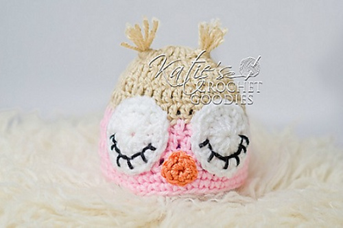 Newborn Sleeping Owl Hat