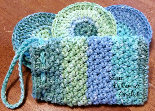 Face Scrubbies and Soap Pouch Spa Set