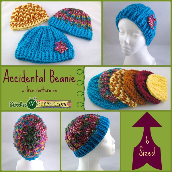 These are the beanies that Stitches 'n' Scrapes crocheted. Aren't they lovely?!