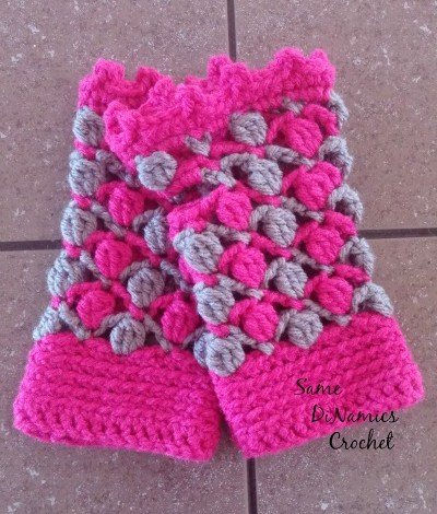 Floating Petals Fingerless Gloves Free Crochet Pattern