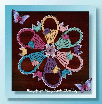 Easter Basket Doily