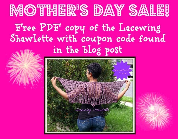 Mother's Day Pattern Sale Lacewing Shawlette