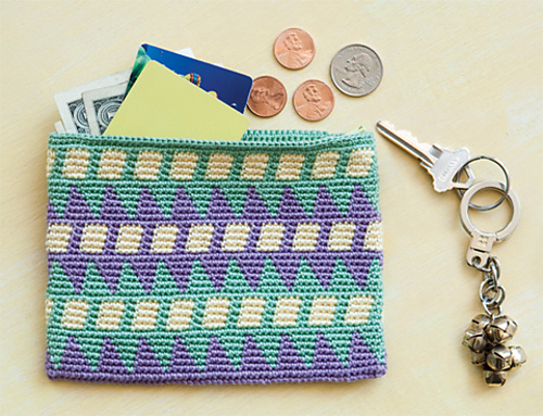 Tapestry Crochet Wallet