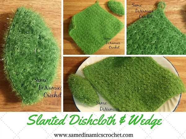 Slanted Dishcloth and Wedge Free Crochet Pattern