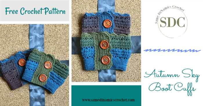 Autumn Sky Boot Cuffs Free Crochet Pattern