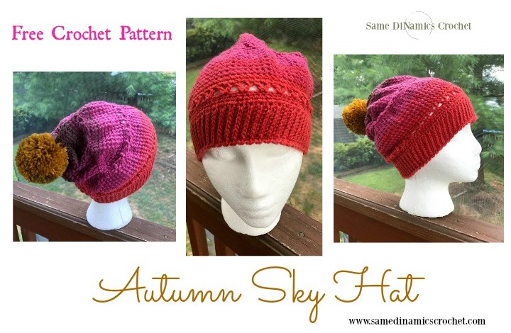 Autumn Sky Hat Free Crochet Pattern