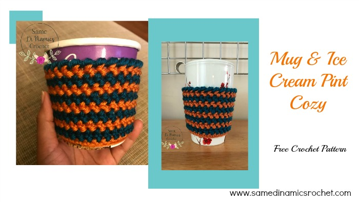 Mug and Ice Cream Pint Cozy Free Crochet Pattern