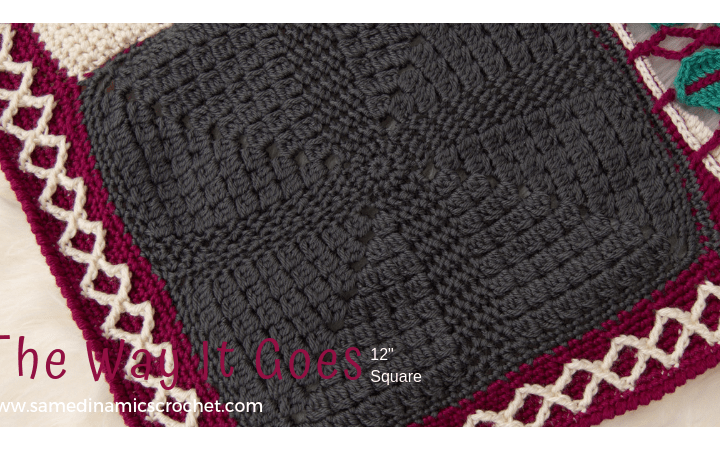 "12"" Afghan Square Free Crochet Pattern"