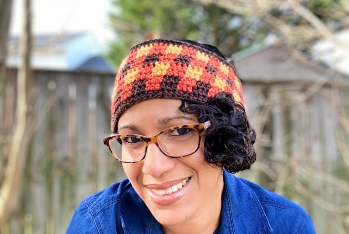Easy Plaid Headband and Earwarmer Free Crochet Pattern
