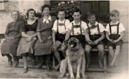 Familie 1950 mit Maria Summerer
