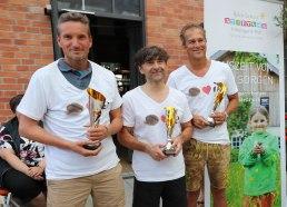 3. Platz E Aqua Team (v.li.n.re.): Jörg Bischof, Clemens Huber und Jakob Gerstmeier.