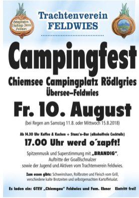 Campingfest Plakat