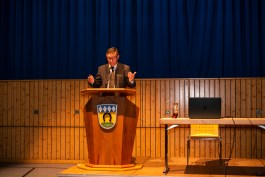 Georg Huber informierte umfassend über alle gemeindlichen Themen