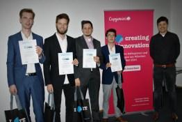 Das Team der Rosenheimer Wirtschaftsinformatik-Studierenden, das bei Capgemini den 4. Platz belegte
