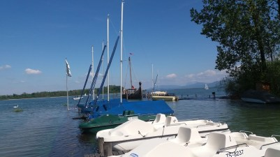 das Wikingerschiff Freya beim Schramlbad