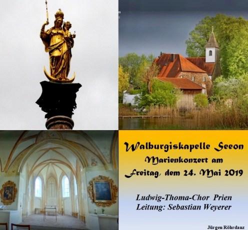 Eindrücke vom Marienkonzert in Seeon mit dem Ludwig-Thoma-Chor Prien mit den Schwarzenstoana Sängerinnen