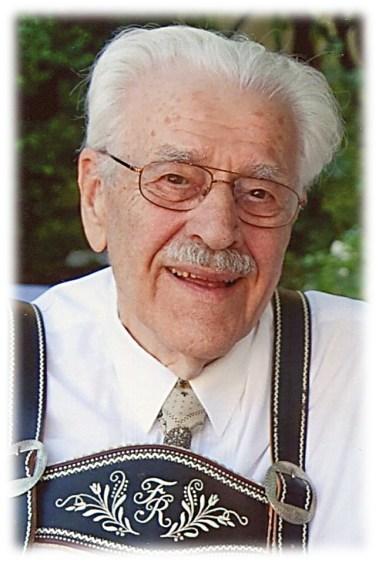 Porträt vom Sterbefoto Dr. Fritz Reuther