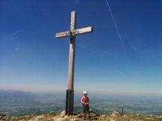 Antonia hat es auch zum Gipfel geschafft