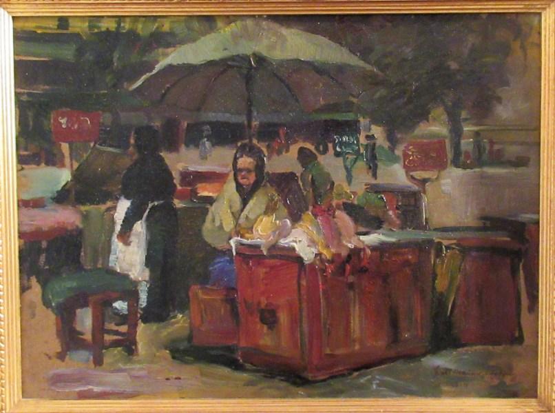 Hiasl Maier-Erding auf dem Gockerlmarkt