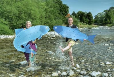 die beiden Touristiker Reiter und Mrozek im blauen Gold_Foto Berger