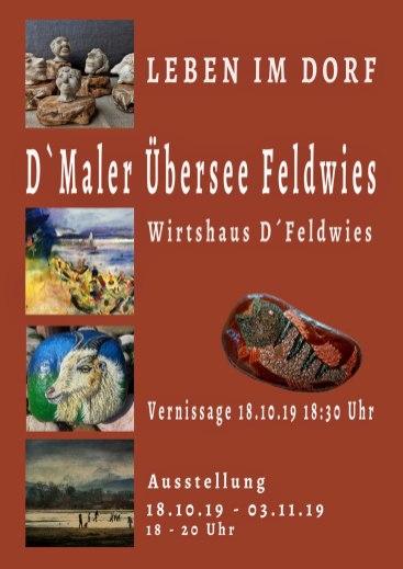 Plakat Jahresausstellung d Maler Uebersee Feldwies
